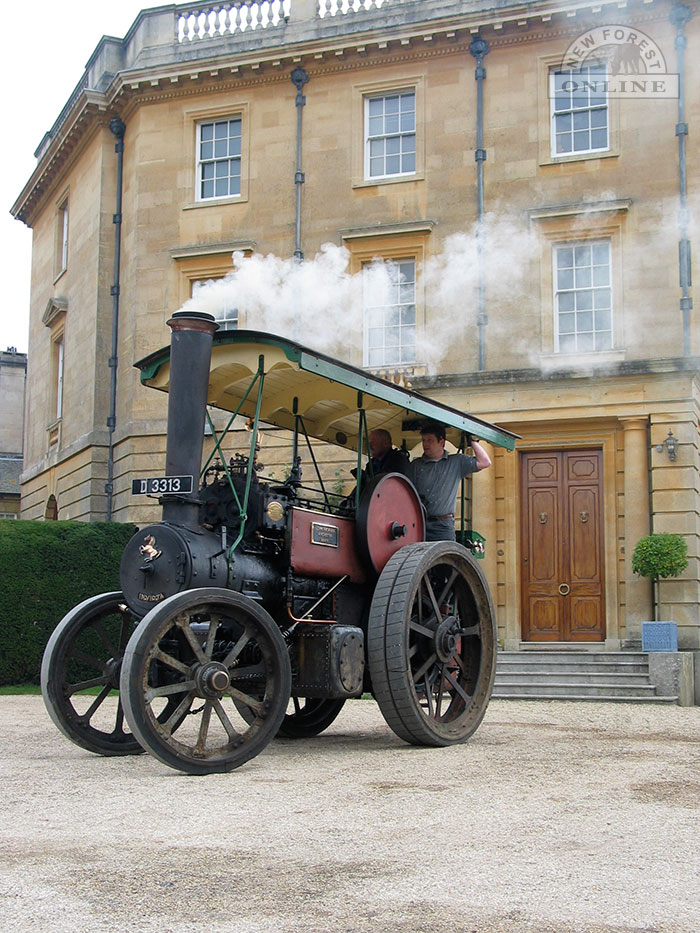A traction engine at Exbury House