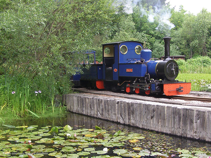 Twenty minute miniature steam train ride at Exbury Gardens