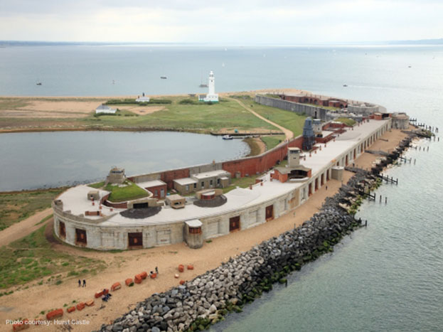 Aerial photograph of Hurst Castle