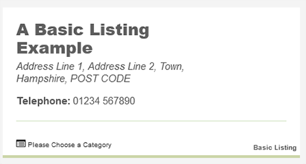 New Forest Online Basic listing example