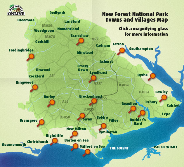 New Forest Towns and Villages Map